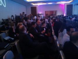 """קהל הכנס בתמונה מר עזרא ורבל ומר מוטי כהן (תמונה ד""""ר ניר ארדינסט)"""