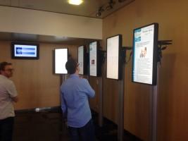 תצוגת החידון ברשמים מהסימפוזיון הבינלאומי ה-III לעדשות מגע בחסות EHA  – ציריך 2014 (צילום מר אורן חן)